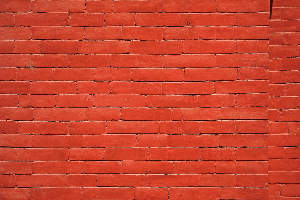 a wall with red color